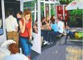 <strong>Dachau Cafe</strong><br/>Acrylic on Canvas<br/>140 x 200 cm, 2002-2003