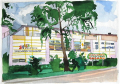 <strong>Dachau Shopping Mall</strong>Watercolor, 18 x 13 cm, 2003