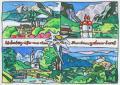 <strong>Urlaubsgrusse aus dem Berchtesgadener Land_</strong>Acrylic on Canvas, 15 x 10.5 cm, 2000 - 2002